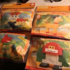 Juegos construcción - Lego: 4 BOLSAS JUGUETE CONSTRUCCIÓN COLECCIONABLE TIPO LEGO ANIMALES BEST. LOCK BRICK TOYS. Lote 245520420