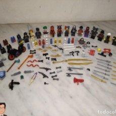 Juegos construcción - Lego: GRAN LOTE LEGO DESPIECE - MUÑECOS - ARMAS - ACCESORIOS - MOTO - ESPADA - PISTOLA - BATMAN STAR WARS. Lote 246578020