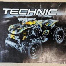 Juegos construcción - Lego: LEGO 7158 TECHNIC ACCIÓN QUAD MOTOR PULL BACK MOTOR RACER TECNOLOGÍA. SIN CAJA. AÑO 2014 COMPLETO. Lote 246591160