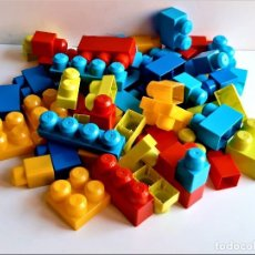 Juegos construcción - Lego: LOTE DE FICHAS MEGA BLOKS DE LAS GRANDES. Lote 251576755