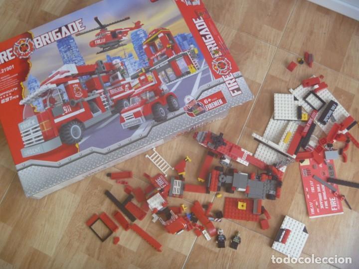 JUEGO DE CONSTRUCCION DE BOMBEROS, FIRE BRIGATE .¡ NO LEGO ! ¡ INCOMPLETO !, EN SU CAJA (Juguetes - Construcción - Lego)