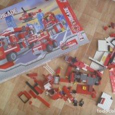 Juegos construcción - Lego: JUEGO DE CONSTRUCCION DE BOMBEROS, FIRE BRIGATE .¡ NO LEGO ! ¡ INCOMPLETO !, EN SU CAJA. Lote 251700640