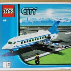 Juegos construcción - Lego: LEGO CITY 3181 AVION DE PASAJEROS DESCATALOGADO AÑO 2010 COMPLETO SIN CAJA. Lote 252152355