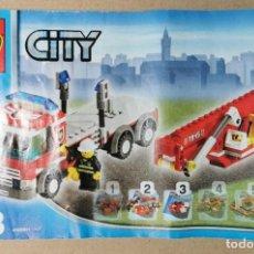 Juegos construcción - Lego: LEGO CITY 7945 ESTACION DE BOMBEROR (SOLO EL CAMION GRUA CESTA) DESCATALOGADO AÑO 2007 SIN CAJA. Lote 252153055