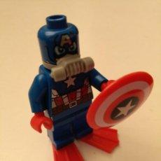 Juegos construcción - Lego: LEGO FIGURA MARVEL SÚPER HÉROES MINIFIGURA CAPITAN AMERICA 76048 2016.. Lote 254373665