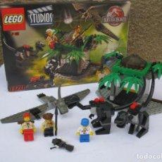 Juegos construcción - Lego: LEGO STUDIOS - 1370 - JURASSIC PARK - COMPLETO - CON INSTRUCCIONES - EN SU CAJA ORIGINAL.. Lote 254397745