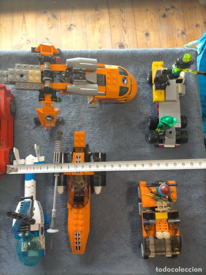 Juegos construcción - Lego: Gran pack de 10 coches y vehiculos de lego , de carreras, helicoptero, avion y 12 conductores - Foto 2 - 254639635