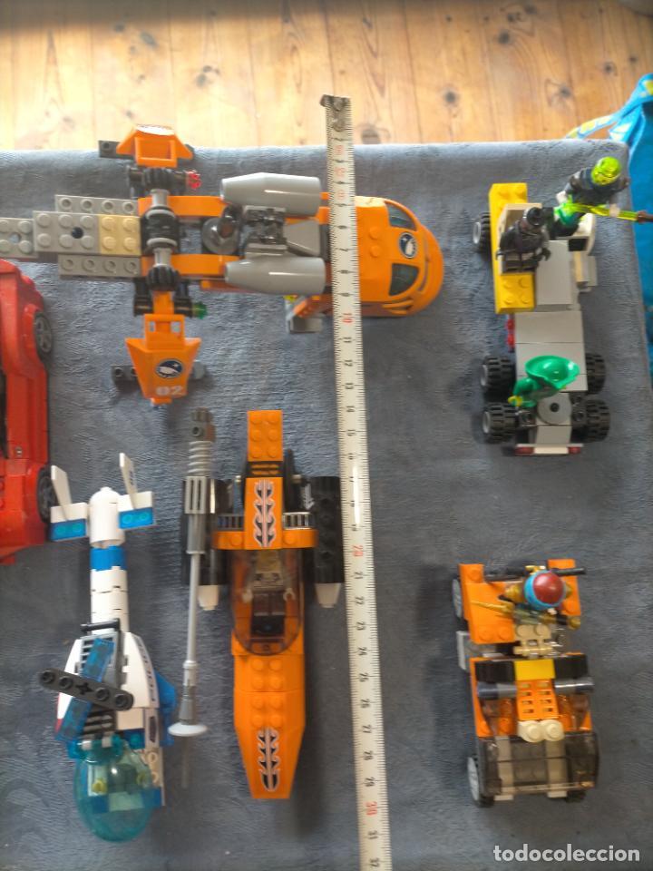 Juegos construcción - Lego: Gran pack de 10 coches y vehiculos de lego , de carreras, helicoptero, avion y 12 conductores - Foto 3 - 254639635