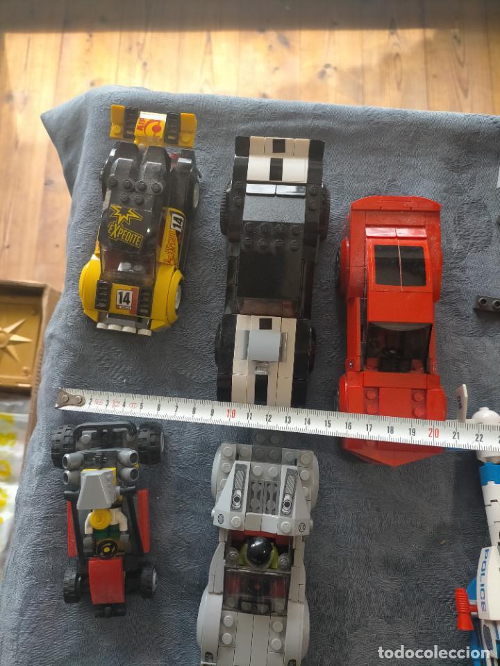 Juegos construcción - Lego: Gran pack de 10 coches y vehiculos de lego , de carreras, helicoptero, avion y 12 conductores - Foto 4 - 254639635