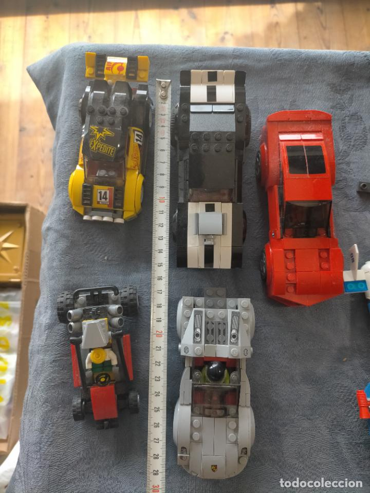 Juegos construcción - Lego: Gran pack de 10 coches y vehiculos de lego , de carreras, helicoptero, avion y 12 conductores - Foto 5 - 254639635