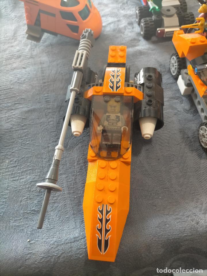 Juegos construcción - Lego: Gran pack de 10 coches y vehiculos de lego , de carreras, helicoptero, avion y 12 conductores - Foto 14 - 254639635