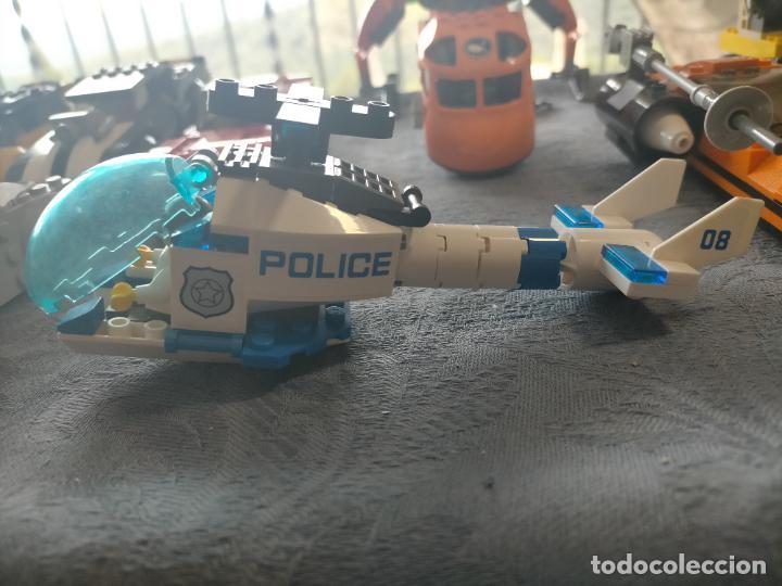 Juegos construcción - Lego: Gran pack de 10 coches y vehiculos de lego , de carreras, helicoptero, avion y 12 conductores - Foto 19 - 254639635