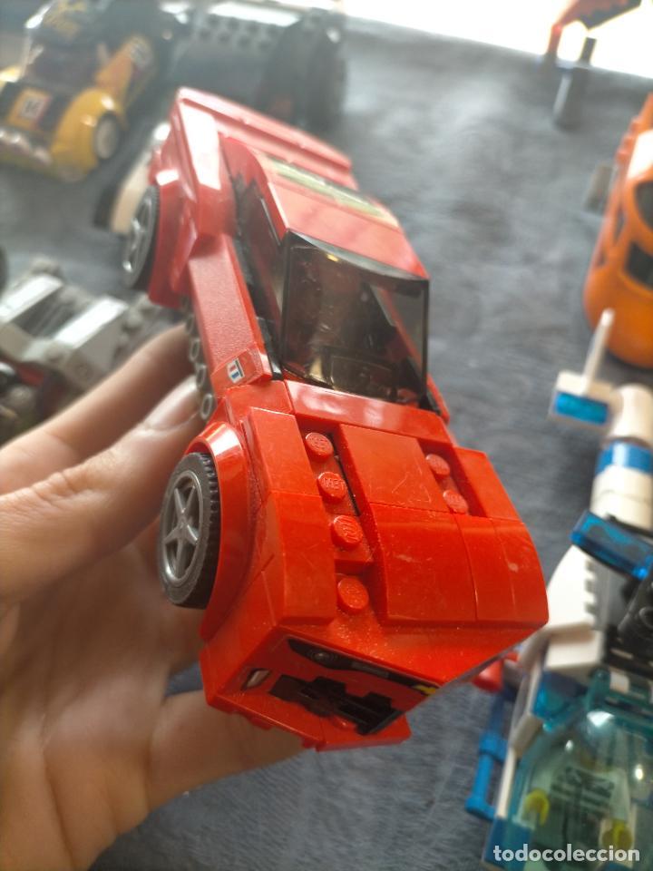 Juegos construcción - Lego: Gran pack de 10 coches y vehiculos de lego , de carreras, helicoptero, avion y 12 conductores - Foto 23 - 254639635