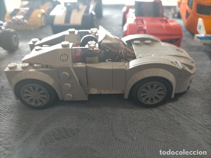 Juegos construcción - Lego: Gran pack de 10 coches y vehiculos de lego , de carreras, helicoptero, avion y 12 conductores - Foto 26 - 254639635