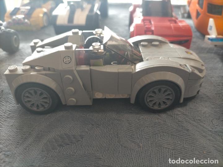 Juegos construcción - Lego: Gran pack de 10 coches y vehiculos de lego , de carreras, helicoptero, avion y 12 conductores - Foto 27 - 254639635