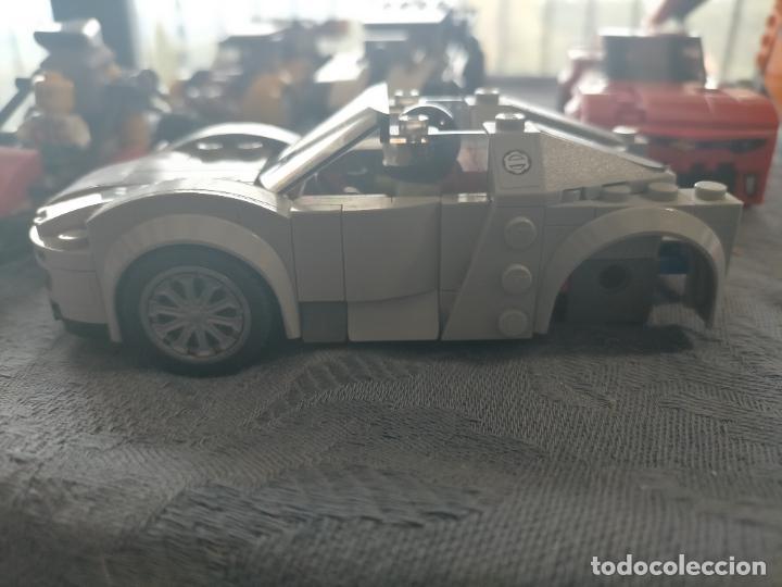 Juegos construcción - Lego: Gran pack de 10 coches y vehiculos de lego , de carreras, helicoptero, avion y 12 conductores - Foto 28 - 254639635