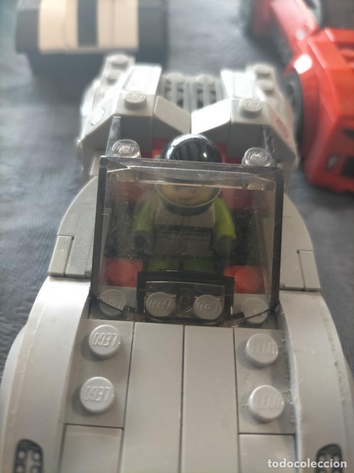 Juegos construcción - Lego: Gran pack de 10 coches y vehiculos de lego , de carreras, helicoptero, avion y 12 conductores - Foto 29 - 254639635