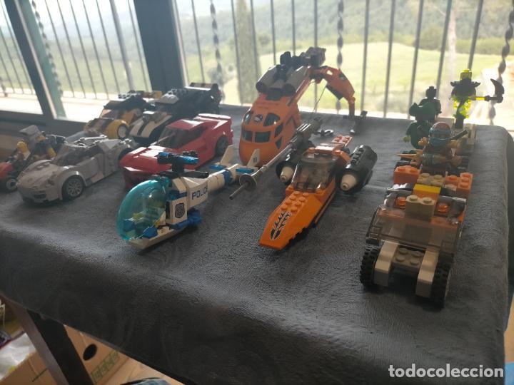 Juegos construcción - Lego: Gran pack de 10 coches y vehiculos de lego , de carreras, helicoptero, avion y 12 conductores - Foto 43 - 254639635