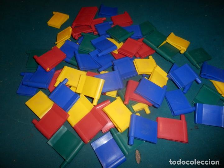 JUEGO DE BISAGRAS Y ESCUADRAS CON PINZA - VER FOTOS Y DESCRIPCIÓN - NO ES LEGO (Juguetes - Construcción - Lego)