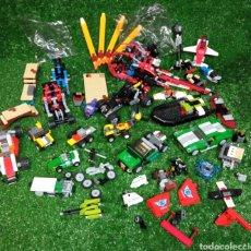 Juegos construcción - Lego: LOTE LEGO VEHÍCULOS Y PIEZAS HELICÓPTERO COCHES MOTO BARCA ETC Y PIEZAS. Lote 255319365