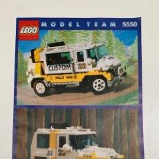 Juegos construcción - Lego: MANUAL DE INSTRUCCIONES PARA EL MONTAJE DE LEGO MODEL TEAM 5550, AÑO 1991. Lote 257880155