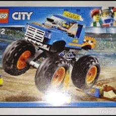 Juegos construcción - Lego: LEGO CITY - 60180 - CAMIÓN MONSTRUO, DEL AÑO 2017, NUEVO Y PRECINTADO EN SU CAJA ORIGINAL.. Lote 260343110