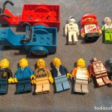 Juegos construcción - Lego: PACK DE MUÑECOS DE LEGO Y DOS MOTOCARROS, CONDUCTORES, TRABAJADORES Y MARCAS SIMILARES. Lote 260771315
