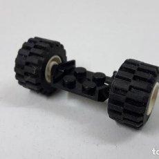 Juegos construcción - Lego: EJE CON DOS RUEDAS ORIGINAL DE LEGO. Lote 260867700