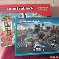 Juegos construcción - Lego: CONSTRUBLOCK OPERACIÓN RESCATE Y ESTACIÓN DE POLICÍA.. Lote 265876079