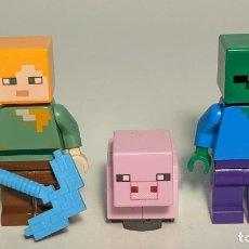 Juegos construcción - Lego: LOTE FIGURAS LEGO MINECRAFT 21223 - LEGO MINECRAFT LEGO MINIFIGURE - MIN010 Y MIN017. Lote 268894119