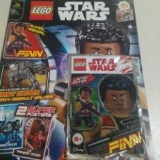 Juegos construcción - Lego: LEGO REVISTA STAR WARS 34 SEP-18 NUEVO SOBRE PRECINTADO FIGURA FIN FINN KENOBI LIMITADA. Lote 269100943