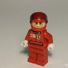 Juegos construcción - Lego: F1 FERRARI DRIVER 8672 - LEGO RACERS LEGO MINIFIGURE - RAC024AS. Lote 269268623
