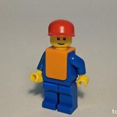Juegos construcción - Lego: AIRPORT ORANGE VEST CREW 7894 - LEGO CITY LEGO MINIFIGURE - AIR034. Lote 269270108
