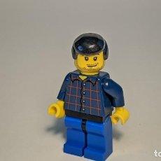 Juegos construcción - Lego: MAN WITH PLAID BUTTON SHIRT 7894 - LEGO CITY LEGO MINIFIGURE - CTY0083. Lote 269270768