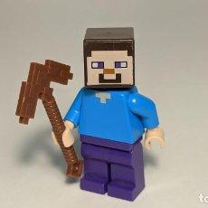 Juegos construcción - Lego: STEVE 21128 - LEGO MINECRAFT LEGO MINIFIGURE - MIN009. Lote 269965763