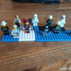 Juegos construcción - Lego: 10 MINI FIGURAS ORIGINALES DE LEGO - STAR WARS - MARVEL - BOMBEROS (C11). Lote 270552928