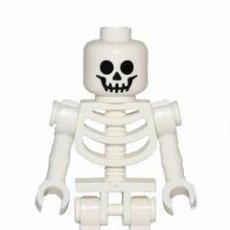 Juegos construcción - Lego: LEGO ORIGINAL MINIFIGURA ESQUELETO CON CRÁNEO ESTÁNDAR GEN047. Lote 271374068