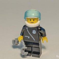 Juegos construcción - Lego: POLICE BLACK SHIRT W/ ZIPPER 6540 6354 9361 - LEGO CLASSIC TOWN LEGO MINIFIGURE - COP004. Lote 271650573
