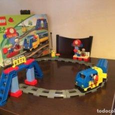 Juegos construcción - Lego: LEGO TREN CON BATERIA GUAPISIMO ,EN SU CAJA COMPLETO. Lote 271990628