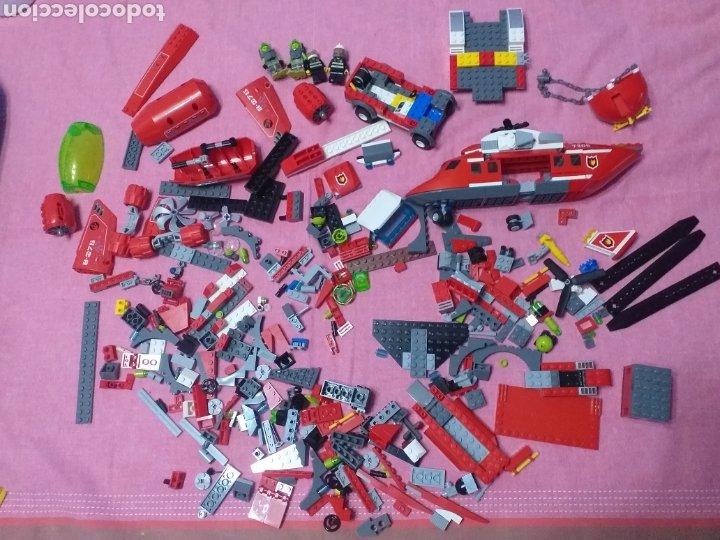 DESPIECE DE LEGO HELICÓPTERO BOMBEROS MÁS ATLANTIS (Juguetes - Construcción - Lego)