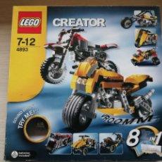 Juegos construcción - Lego: LEGO 4893 MOTOS 8 EN 1 COMPLETO Y SIN MONTAR. Lote 276024478