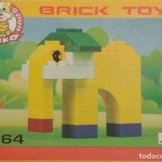 Juegos construcción - Lego: FIGURA DE ELEFANTE AMARILLO BRICK TOYS (NIKO BUILD 1664). NUEVO EN CAJA.. Lote 277260663