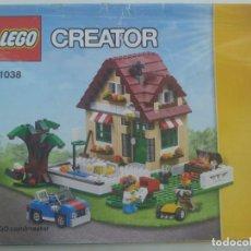 Juegos construcción - Lego: LEGO CREATOR : LIBRITO DE INSTRUCCIONES PARA LA CONSTRUCCION DE LA CASA DE CAMPO. Lote 277426138