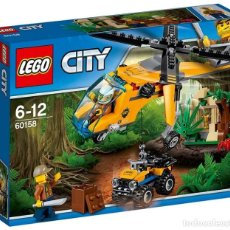 Juegos construcción - Lego: LEGO 60158 HELICÓPTERO DE TRANSPORTE DE LA JUNGLA (CITY). NUEVO EN CAJA!!.. Lote 278429863