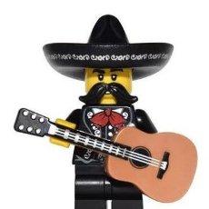 Jeux construction - Lego: LEGO 71013 MINIFIGURES FIGURA DE CANTANTE MARIACHI MEXICANO (SERIES 16).FIGURA SUELTA, YA MONTADA!!.. Lote 283518498