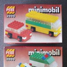 Juegos construcción - Lego: LOTE CAJAS PEBE 2000 MINIMOBIL TIPO LEGO. Lote 288341628