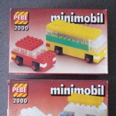 Juegos construcción - Lego: LOTE CAJAS PEBE 2000 MINIMOBIL TIPO LEGO. Lote 288341798