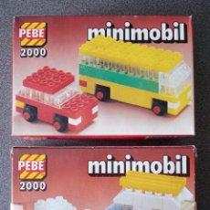Juegos construcción - Lego: LOTE 2 CAJAS PEBE 2000 MINIMOBIL TIPO LEGO. Lote 288341883