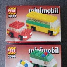 Juegos construcción - Lego: LOTE CAJAS PEBE 2000 MINIMOBIL TIPO LEGO. Lote 288341958