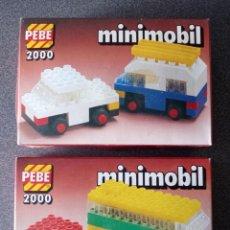 Juegos construcción - Lego: LOTE CAJAS PEBE 2000 MINIMOBIL TIPO LEGO. Lote 288342023